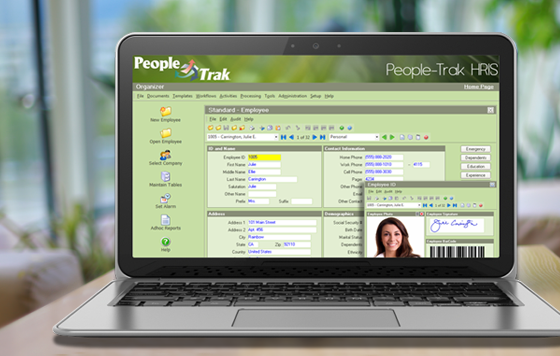 People-Trak HRIS Employee Profile Screenshot