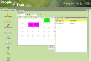 People-Trak Time and Attendance Calendar