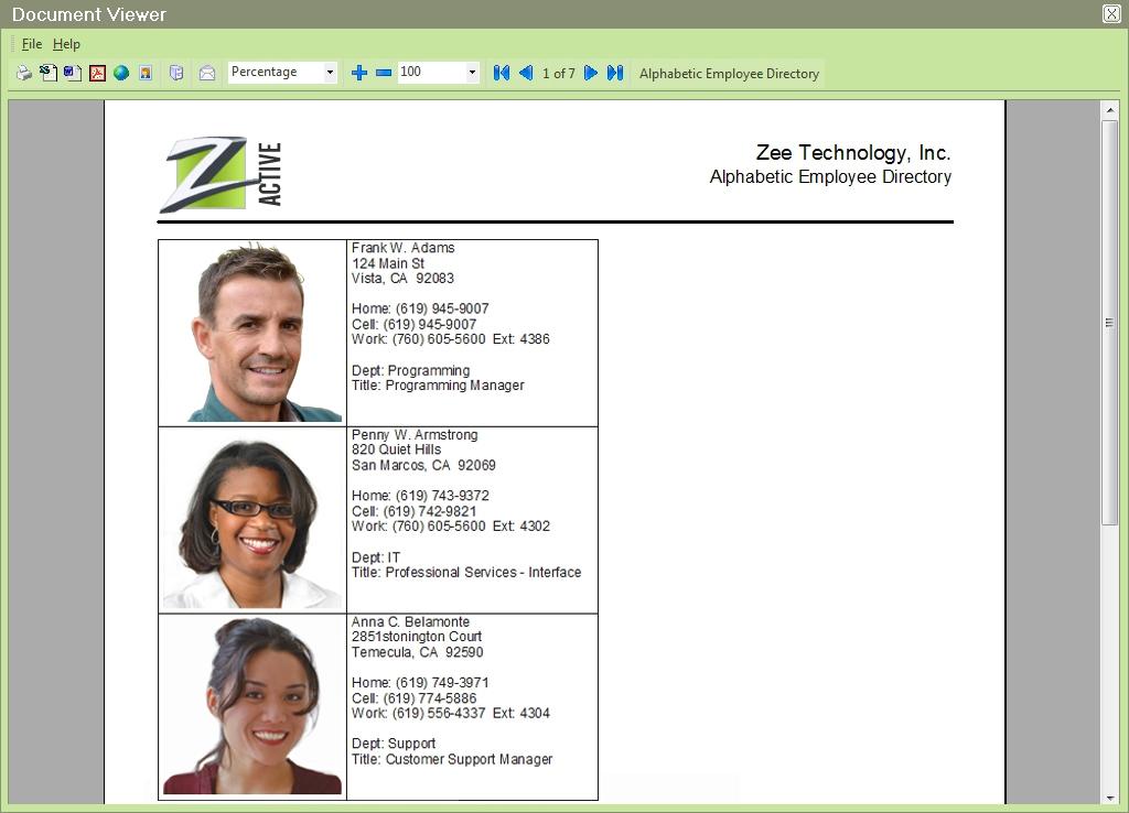People-Trak Employee Directory Report, bigger